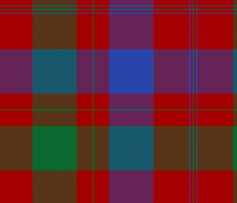 Isabella (MacTavish) Fraser Wedding tartan, original size, modern fabric by weavingmajor on Spoonflower - custom fabric