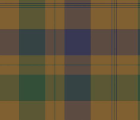 Isabella (MacTavish) Fraser Wedding tartan, original size, weathered fabric by weavingmajor on Spoonflower - custom fabric