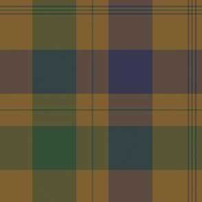 Isabella (MacTavish) Fraser Wedding tartan, original size, weathered