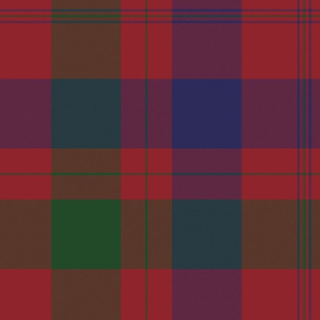 Isabella (MacTavish) Fraser Wedding tartan, original size, muted