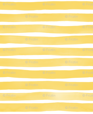 Yellow Yolk Watercolor Stripes by Friztin