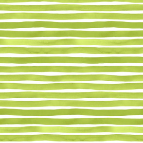 Watercolor Stripes M+M Lime Green by Friztin