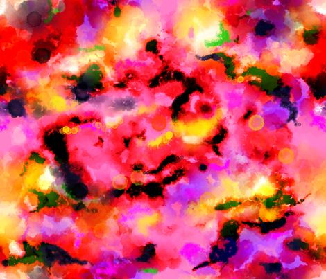 Tie dyed nebula sunrise fabric by beesocks on Spoonflower - custom fabric