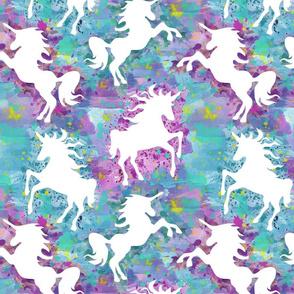 Watercolor Unicorn 2