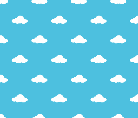 Andys Room Clouds Fabric Thesucklingduckling Spoonflower