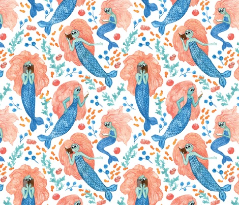 Rmermaid-pattern-white-background_contest142683preview