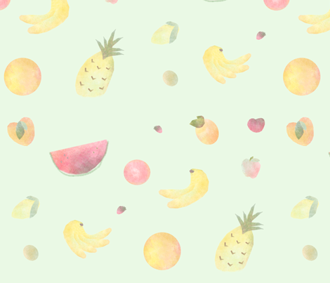 Fruit_Dispersed fabric by girlupinatree on Spoonflower - custom fabric