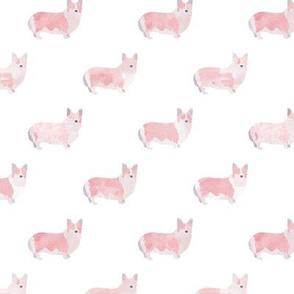 Watercolor Corgis (white)
