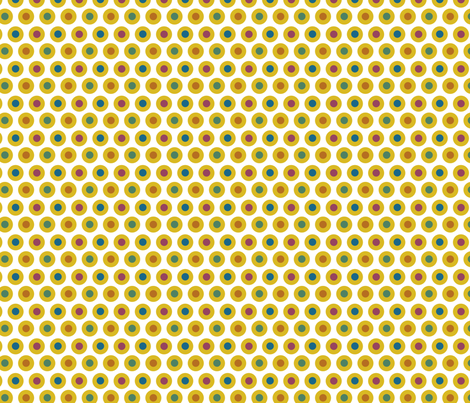 Yellow Dots (dragon palette) fabric by chiral on Spoonflower - custom fabric
