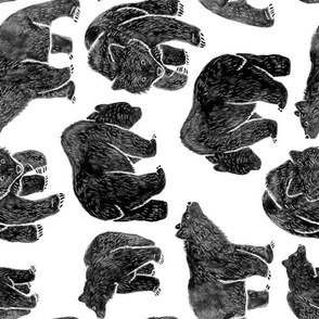 Bold Black Bear Print (rotated)