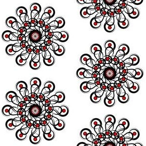 Black-n-Red_Rosette_Half_Drop