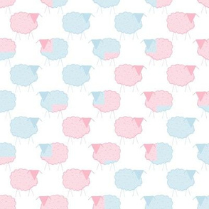 A Flock of Pastel Sheep in Zigzag
