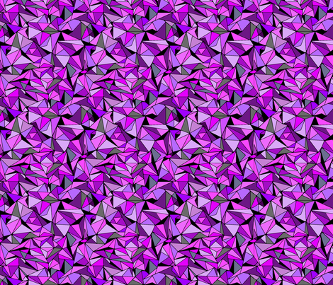 Amethyst Purple Triangles fabric by infiknit_fabrics on Spoonflower - custom fabric