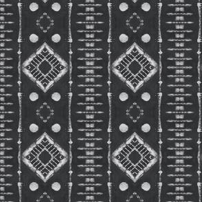 Faux Shibori Ladders Pattern in gray