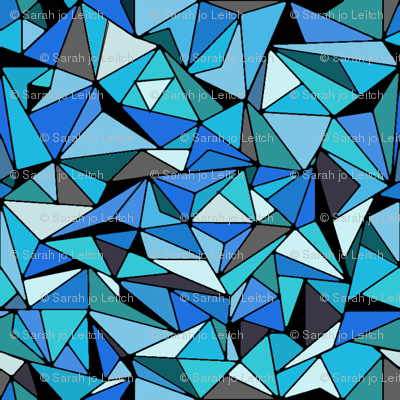 Sapphire Blue Triangles