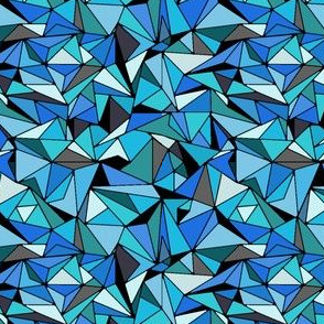 Sapphire Blue Triangles