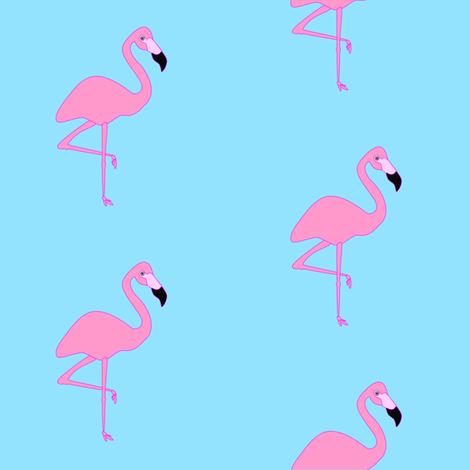 Simply Flamingos fabric by flamincatdesigns on Spoonflower - custom fabric