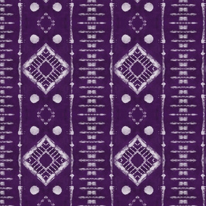 Faux Shibori Ladders Pattern in purple
