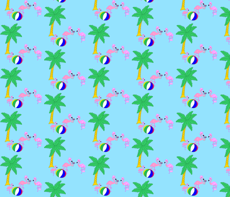 Pink Flamingo Family fabric by flamincatdesigns on Spoonflower - custom fabric