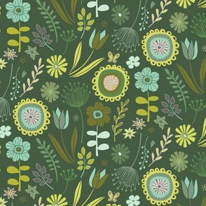 Meadow - Springtime, dark green