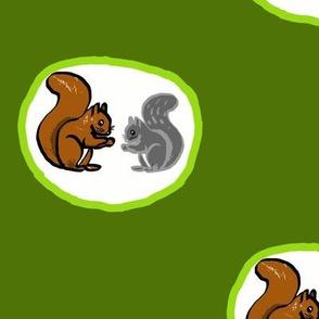 Large Squirrels Polka Dots