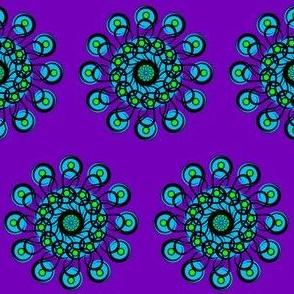 Black-n-Green-n-Turquoise_Rosette_Half_Brick