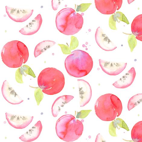 apple slice fabric by erinanne on Spoonflower - custom fabric