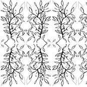 Black and White Tree Emblem