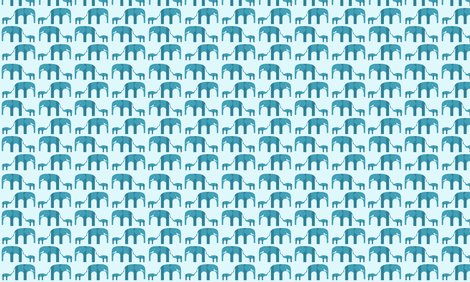 Baby Elephant and Mom fabric by schumanndesigns on Spoonflower - custom fabric