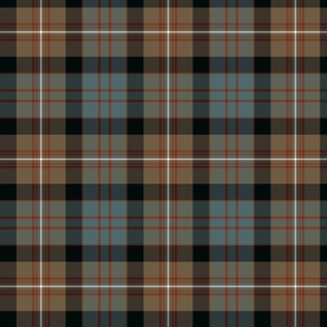 MacDonell of Glengarry tartan #2, weathered 7""
