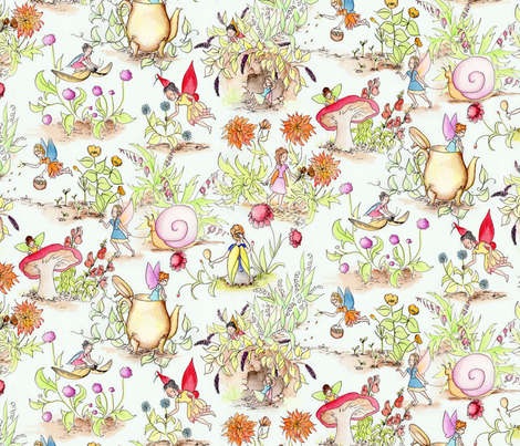 WatercolorFairies fabric by blairfully_made on Spoonflower - custom fabric
