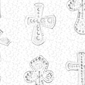 Gray Grey Crosses on White Large Religious Christian Jesus_Miss Chiff Designs