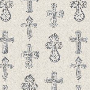 Watercolor Cross Christian Religious Christianity Taupe Gray Beige Neutral _ Miss Chiff Designs