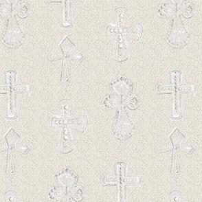 Chalk  Cross Christian Christianity Religion Relic White Chalk Beige Neutral_Miss Chiff Design