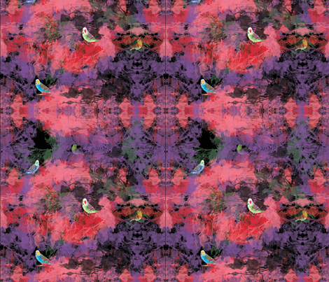 Peek- a-Boo Birdies fabric by dsg_designs on Spoonflower - custom fabric