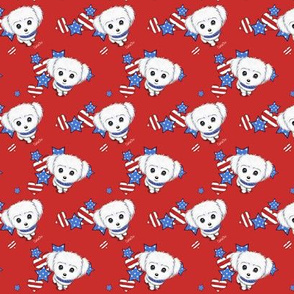 Patriotic Maltese boy red S