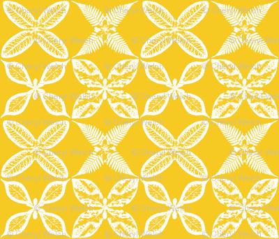 leaf x pattern yellow