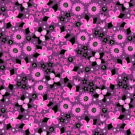 Flower Patch (Purple) fabric by robyriker on Spoonflower - custom fabric