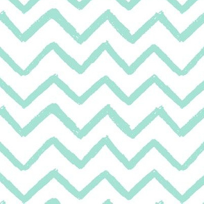 Painted Minty Chevron