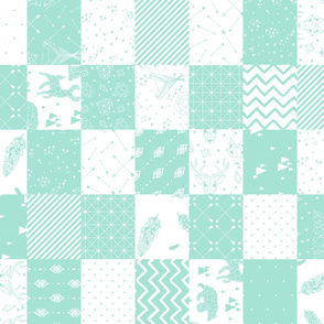 Minty Mountains Cheater Quilt