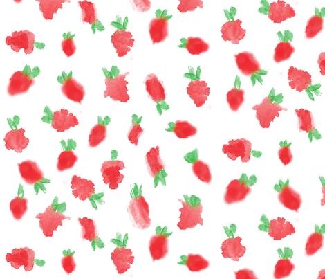 Strawberry Fields fabric by xtinew on Spoonflower - custom fabric