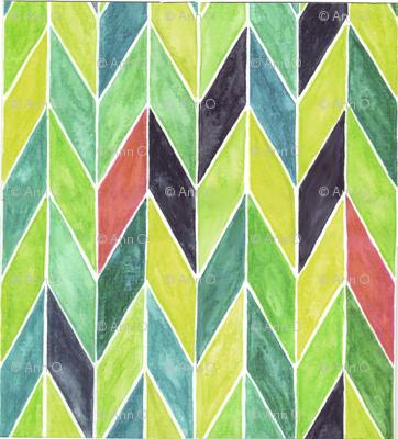 Watercolor Chevrons