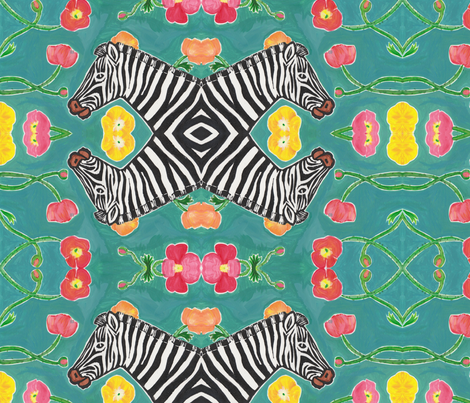 Zebra Print #1 fabric by driessa on Spoonflower - custom fabric
