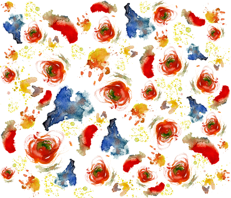 Abstract Watercolor fabric by bonifi on Spoonflower - custom fabric