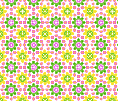 retro_flowe_white fabric by 257 on Spoonflower - custom fabric