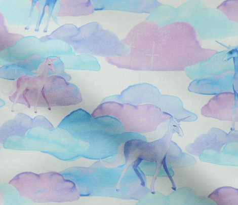 Unicorns and Clouds (small print)