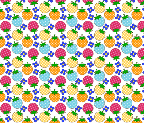 strawberry3_white fabric by 257 on Spoonflower - custom fabric
