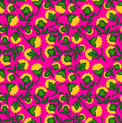 Basic Floral 2 fabric by jadegordon on Spoonflower - custom fabric