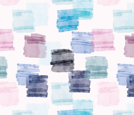 Watercolour Swatch fabric by twyfie on Spoonflower - custom fabric