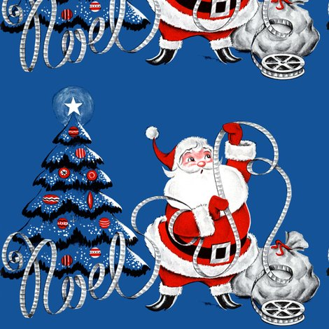 Santa Claus Merry Christmas Trees Stars Baubles Movie Reels Cinema Films Celluloid Tapes Sacks Gifts Presents